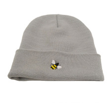 Custom-made embroidery funny winter hats caps  promotion factory price knitted hat acrylic