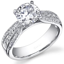 925 Silver Jewelry Engagement Ring with Clear White Cubic Zircon