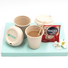 Biodegradable disposable sugarcane bagasse dessert cup  with lid
