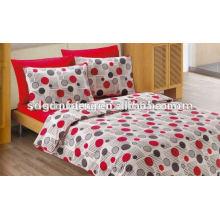 Alibaba Китай поставщик домашнего текстиля вышивки 133*72 реактивной ткань 100% хлопок 3D свадьба утешитель набор постельных принадлежностей