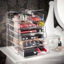 Vente en gros Custom Black Acrylic Makeup Organizer with Logo