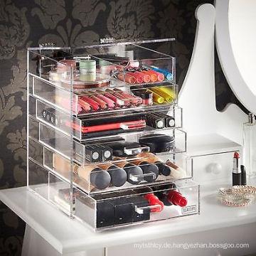 Heißer Verkauf Acrylic Clear Four Layer Kosmetik Organizer Display