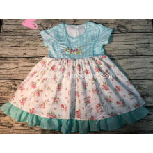 hand embroidered floral childrens boutique clothes