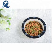 Cuenco de cerámica lindo al por mayor del alimento para animales del perro del esmalte del color de la impresión / gato