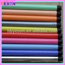Color liso hierro metal PVC cubierta de extensión telescópica escoba maneja