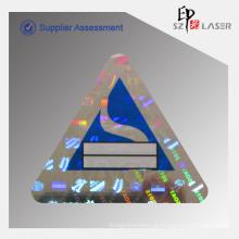 Holograma personalizado garantia adesivos com números de série sequenciais