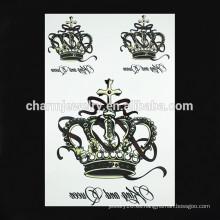 OEM al por mayor imperio tatuaje de la corona brazo tatuaje brazo tatuaje para la señora W-1090