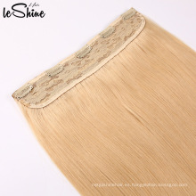 Clip de pelo humano de la Virgen de la calidad del color de dos tonos Ombre en extensiones de cabello de una sola pieza