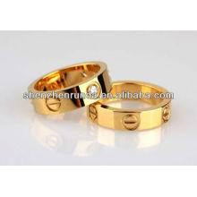 Mais recente anel de ouro banhado desenhos para casal