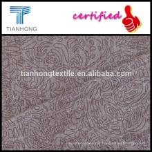 fio de mistura de tencel algodão tingido do spandex tecido impressão com bom alongamento de slub para magro Pereira