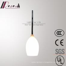 Современный простой опал Белый стеклянный подвесной светильник для гостиной
