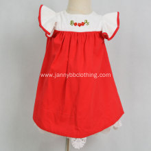Wholesale boutique girls party embroidery Christmas dress