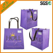 bolso de compras no tejido orgánico negro caliente-vendedor