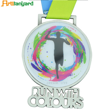 Promotion Zinc Alloy Metal Running Medals Cu
