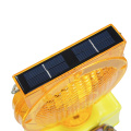 led solar traffic warning flashing barricade light