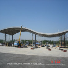 Aluminium Magnesium Manganese Panel & Space Truss Structure Roofing for Toll Station