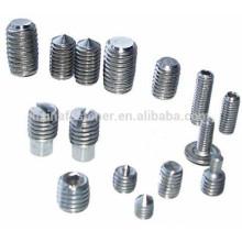 Stock DIN913 / 914/915/916 Todos los tipos Tornillos de fijación SS
