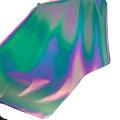 Tissu réfléchissant arc-en-ciel haute lumière extensible pour vêtements de sport