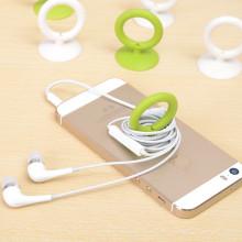 Lindo anillo multifuncional titular de teléfono celular de silicona para regalos promocionales