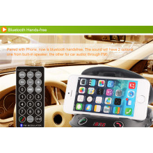 Montagem de telefone transmissor mãos-livres Bluetooth FM para carro