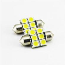 Alta qualidade 12 V 24 V 31 mm 6 pcs SMD chip 5050 cor mudando luz interior do carro levou