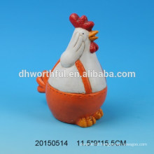 2016 promotional hand painted ceramic rooster