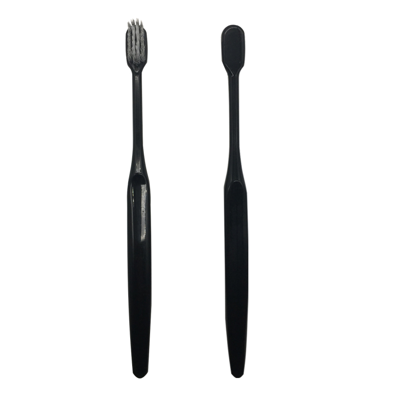 Bamboo Charcoal Sharp Tip Bristles Black Toothbrush Adult