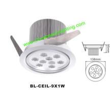 9W LED de luz LED Downlight LED de luz de techo