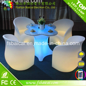 LED Garden Furniture/ LED Outdoor Furniture / LED Table and Chair Hot Sale