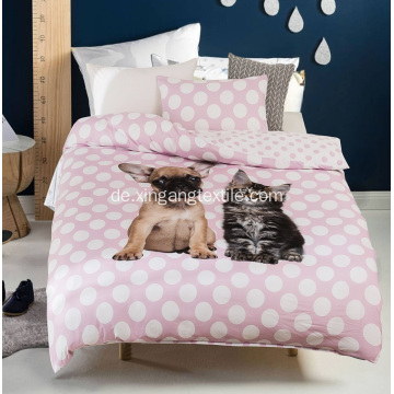 100% Polyester Bettdecke Covet Dog & Cat Print