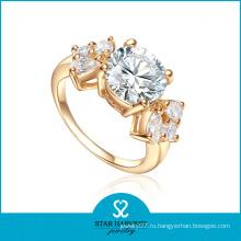 Элегантное стильное серебряное кольцо для украшения (R-0551)