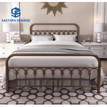 Wholesale Small Volume Metal Home Hotel Furniture Queen King Bed Frame