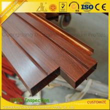 Profils en aluminium en bois de grain 6063-T5 pour la décoration de fenêtre et de porte