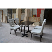 White color Modern restaurant chair and table set XYN501