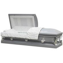 20Ga Earl caixão de prata de aço