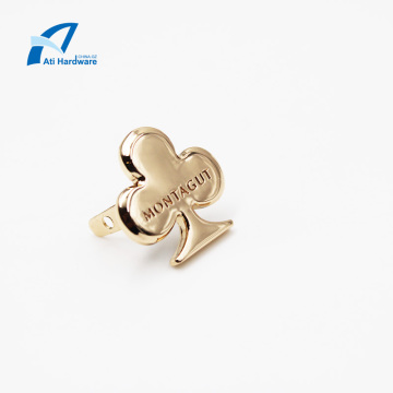 Kundenspezifische Gold Metal Bag Logo oder Label Hardware