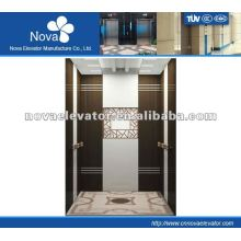 Hairline/etching/mirror stainless steel elevator for office, luxury