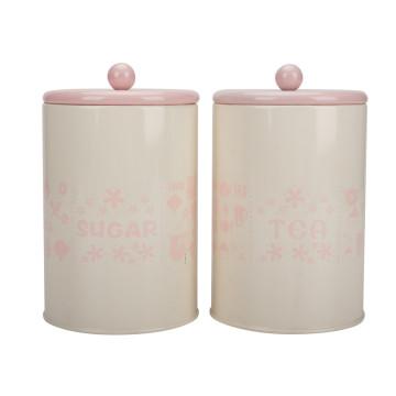 Tea sugar coffee canister set
