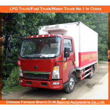 5tons Sinotruk Refrigerated Van Truck in Meat Delivery Chiller Truck