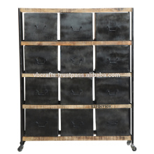 Industrial Design metal Drawer Cabinet with wheels