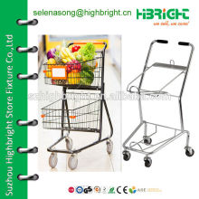 two baskets holder shopping trolley