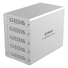 ORICO Aluminium 3.5 pouces SATA USB3.0 & eSATA External Multi Bay HDD Enclosure on the Desktop (3559SUSJ3)