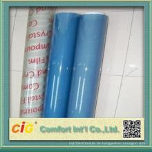 Transparente PVC Soft Folie Blau für Draht und Kabel