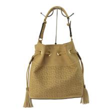 2015 Fashion Ladies PU Laser Bucket Bag with Tassels