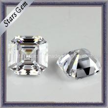 Alta qualidade quadrados forma asscher corte cúbicos zircnoia jóias