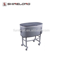 P252 80L Oval Bebidas Rolling Cooler Bverage Cart