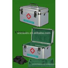 Nueva caja de primeros auxilios de aluminio portable con correa para el hombro