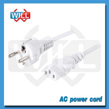 VDE White european standard ac power cord with C13