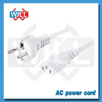 VDE CE 250V 10A 16A 3pin White European AC power cord