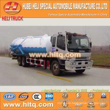 JAPAN technology 6x4 16000L vacuum sewage suction truck with vacuum pump 280hp
